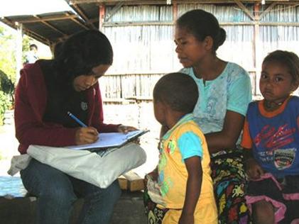 Endline Survey Gallery | Interview with mother  under five children
