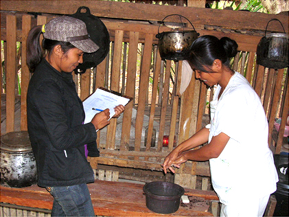 Endline Survey Gallery | Enumerator also observed the house, environment and the respondent life syle ( like washing hand)